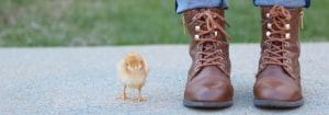 Chick Next to Boots